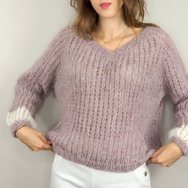 Michele and Hoven Lila Loop Hand Knit Sweater