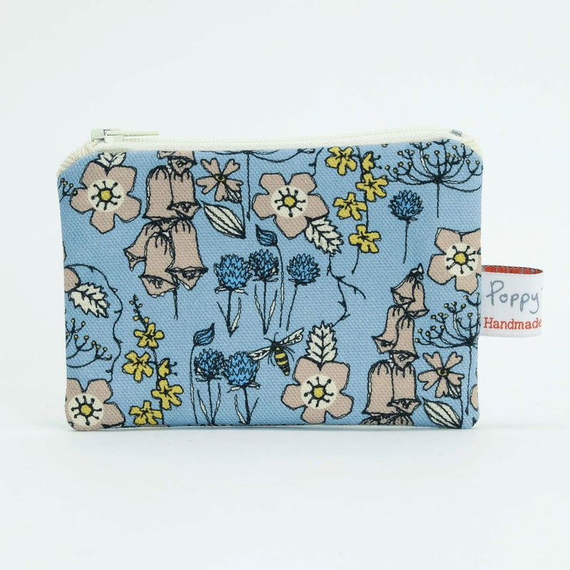 Wild Flowers in Blue Small Useful Purse