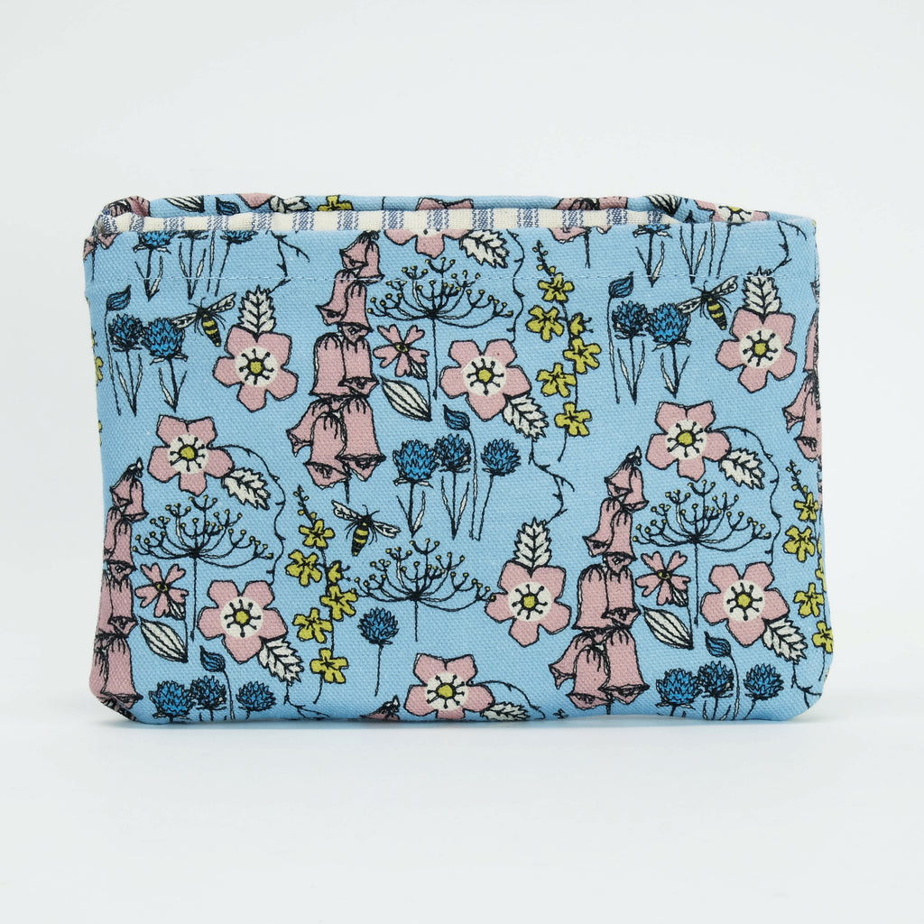 Wild Flowers in Blue Foldaway Shopper