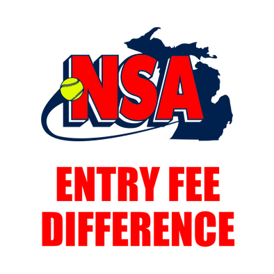 Fastpitch Entry Fee Difference