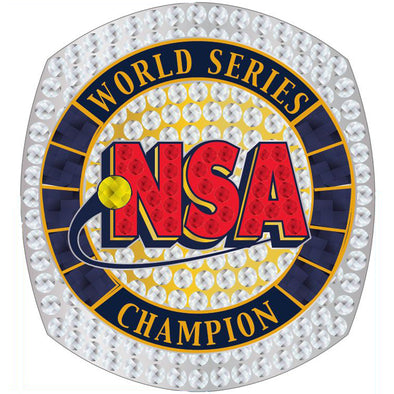 NSA Fastpitch World Series Ring - CHAMPION or FINALIST
