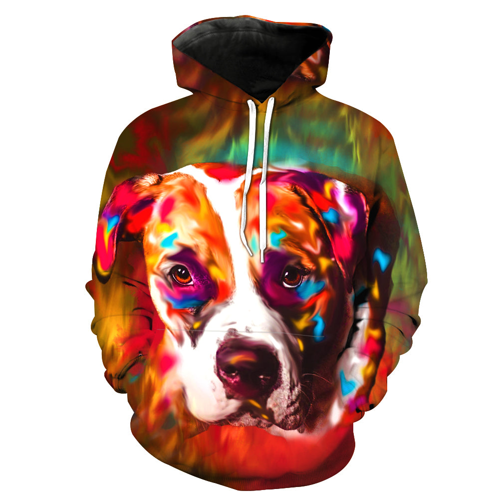 04c76b15d40c ... Boxer Double side 3D printed long sleeve hoodie with hat and pocket ...