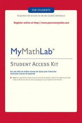 MyMathLab Student Access Code ( eBook Included )