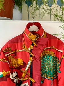 Hermès silk coat
