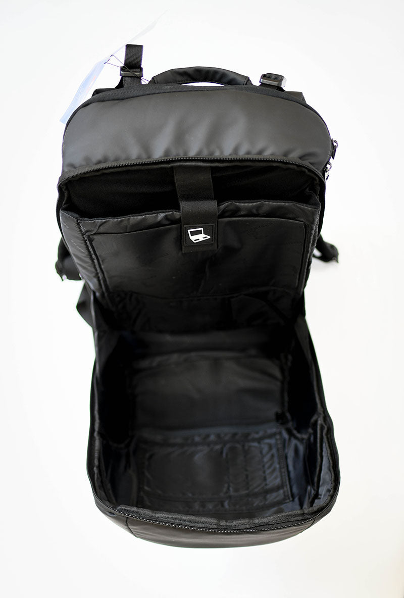 Ultimate Water Resistant Backpack (Brellapak) With Built In Umbrella, Charging Ports - Business/Student Series