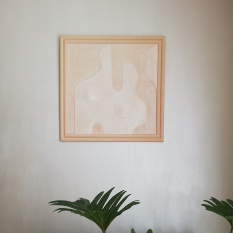 bas relief art work marble stucco nude