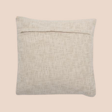 cushion with embroidered organic print