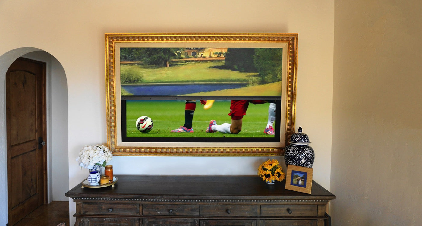 a8b57bc198f 1 Rated Hidden TV Behind Art or a TV Mirror - Frame My TV