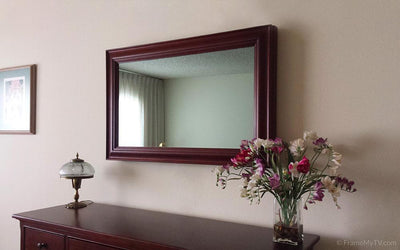 Framed TV mirror