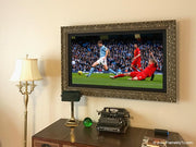 Framed TV on Wall