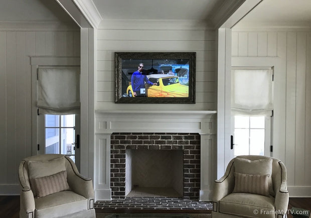 How to conceal a TV in a frame