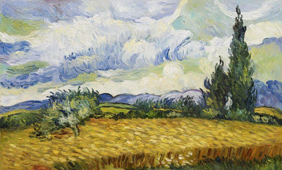 8166 - A Wheat Field with Cypresses by Vincent Van Gogh