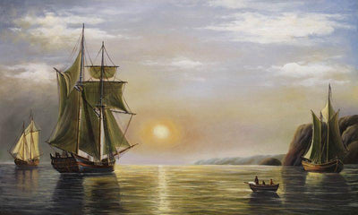 8171 - A Sunset Calm In The Bay Of Fundy by William Bradford