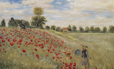8175 - Red Poppies At Argenteuil by Claude Monet