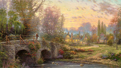 5027 - Cobblestone Evening by Thomas Kinkade