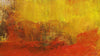 Abstract painted yellow and red art backgrounds to Hide a TV