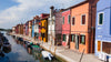 Colourfully painted houses on Burano, Venice, Italy. to Hide a TV