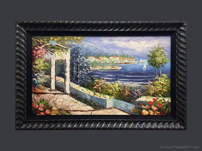 TV frame with art
