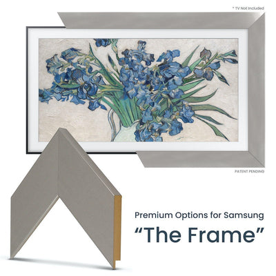 modern silver frame for samsung the frame tv
