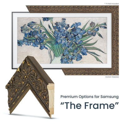ornate traditional gold frame for samsung the frame