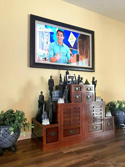 Frame your TV Mirror
