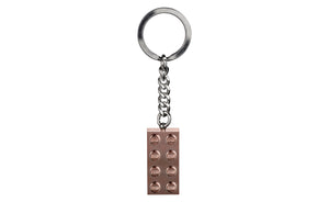 LEGO® Iconic Key Chain 2x4 Rose Gold