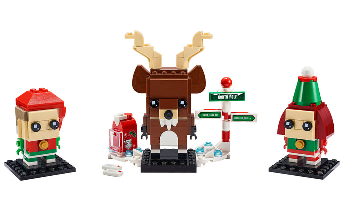 LEGO® BrickHeadz™ Reindeer, Elf and Elfie