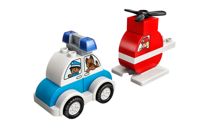 10957 | LEGO® DUPLO® Fire Helicopter & Police Car