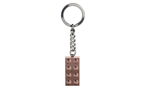 853793_01 | LEGO® Iconic Key Chain 2x4 Rose Gold 2019