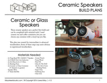 Ceramic or Glass Speaker | Free DIY Build Plans