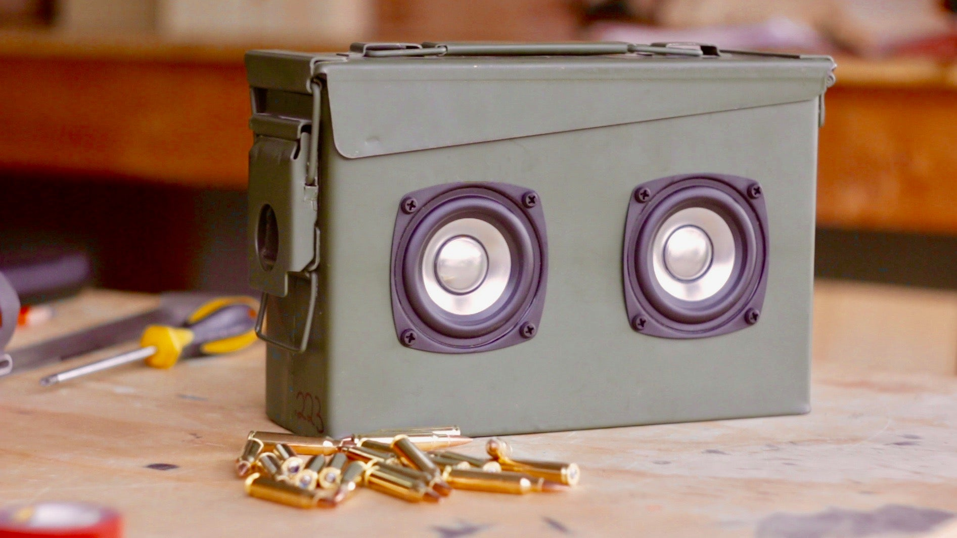 Ammo Can Portable Bluetooth Speaker Free Diy Build Plans Kma