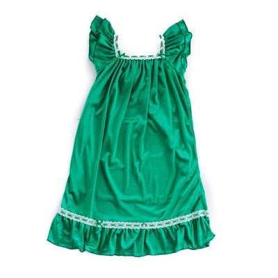 The Original | Classic Vintage Nightgown Nightgown Betsy and Lace M (3-4 Years) Green