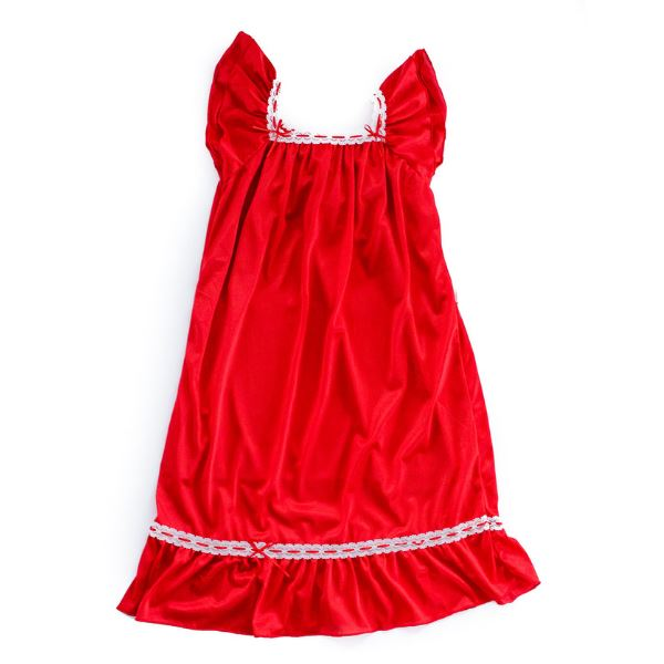 The Original | Classic Vintage Nightgown Nightgown Betsy and Lace S (1-2 Years) Red