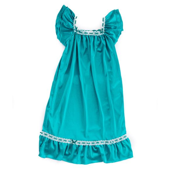 The Original | Classic Vintage Nightgown Nightgown Betsy and Lace S (1-2 Years) Turquoise