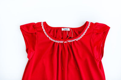 The Betsy | New Colors & Style Nightgown Betsy and Lace YS (1-2 Years) Red