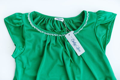 The Betsy | New Colors & Style Nightgown Betsy and Lace YS (1-2 Years) Green