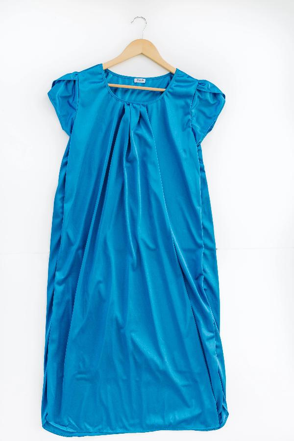 The Lucy | Vintage Matching Women's Nightgowns Nightgown Betsy and Lace XS (0-2) Blue
