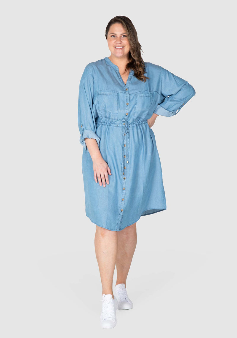 Chambray shirt dress - Indigo