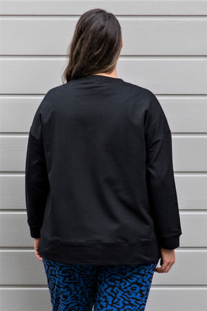 LYW & Co Embossed Sweat - Black