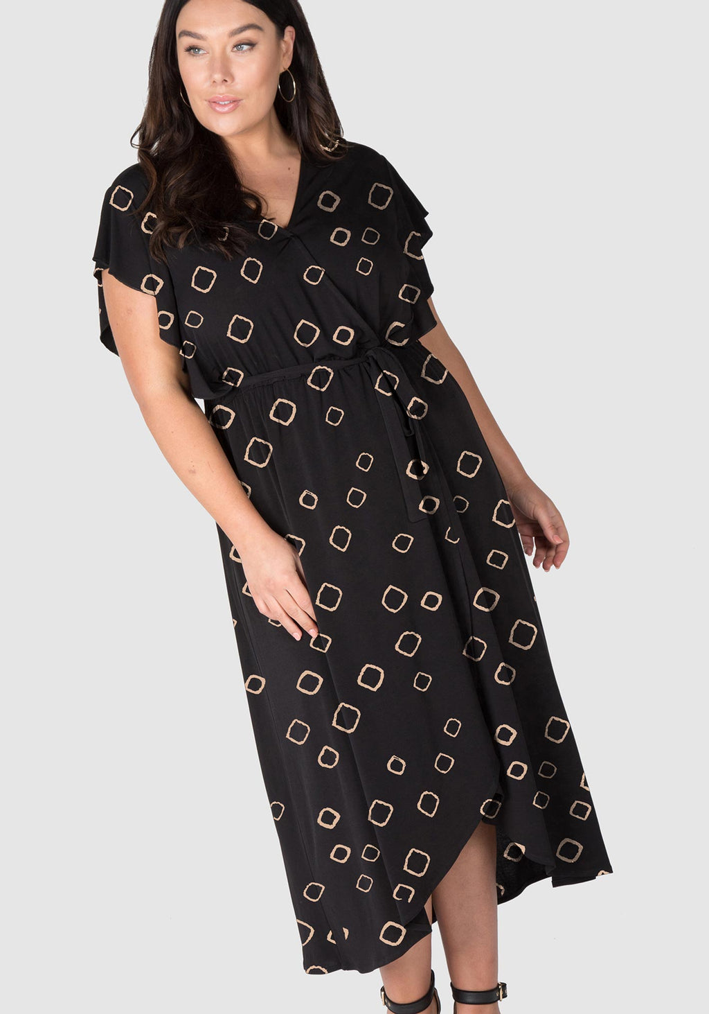 Shine Like A Diamond Knit Maxi Dress - Black/Rose Gold