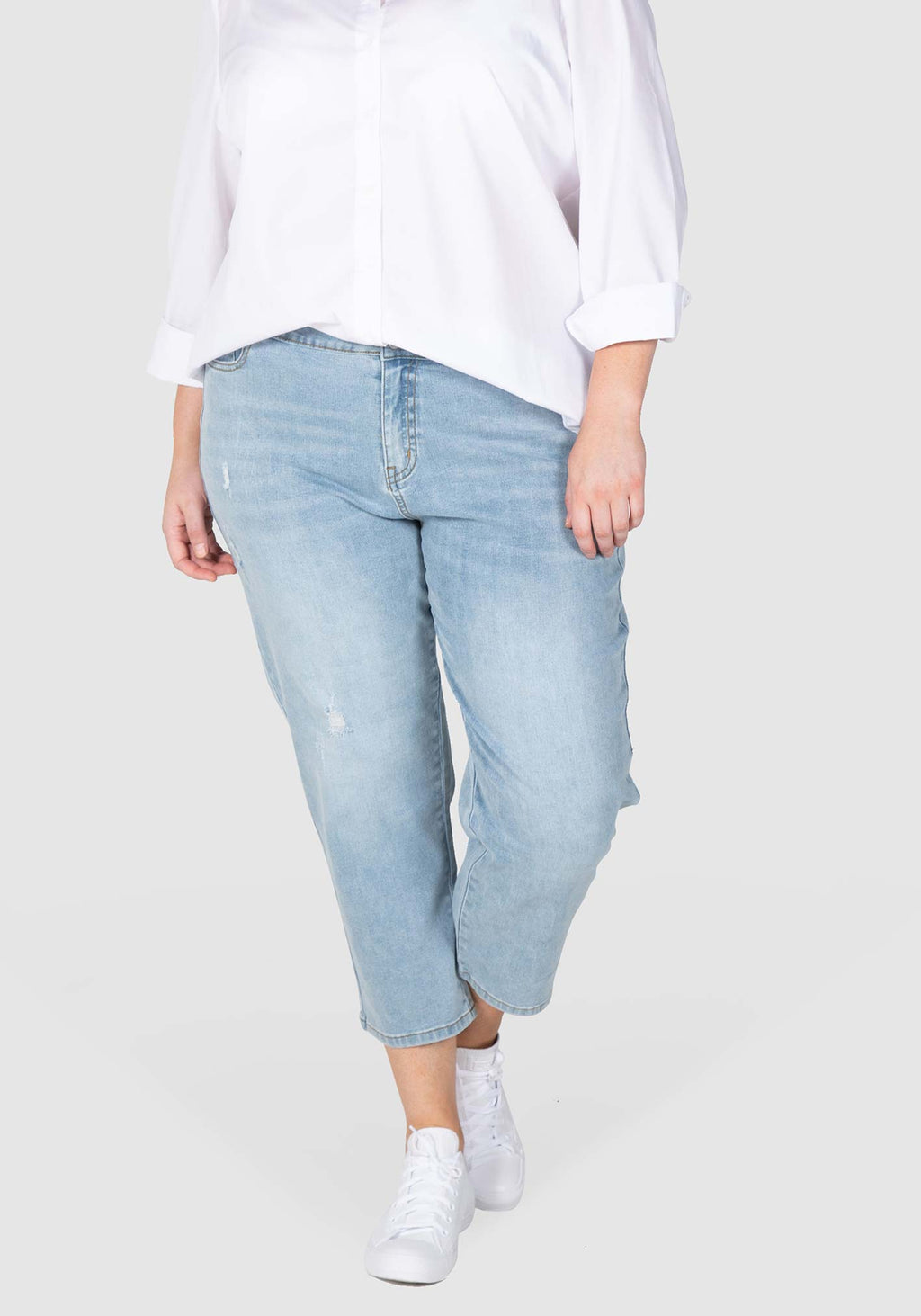 Jordyn Washed Out Stretch Jean  - Washed Indigo