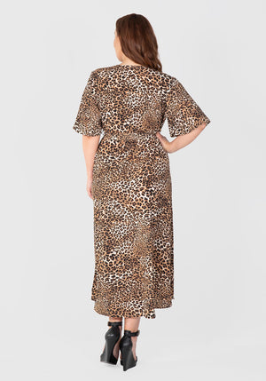 Leopard Print Wrap Dress - Animal Print