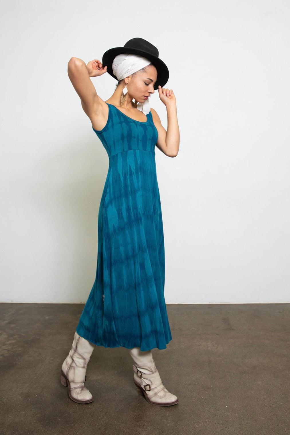 Maxi Dress - full shibori