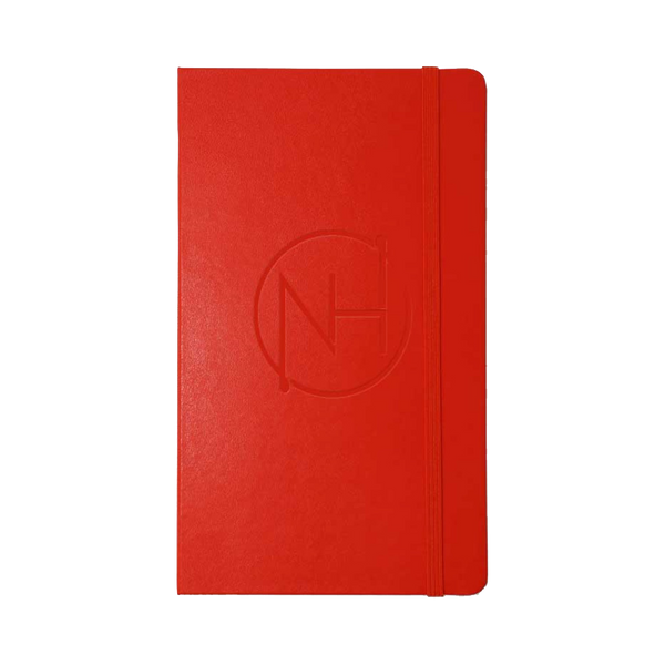 Monogram Embossed Red Journal