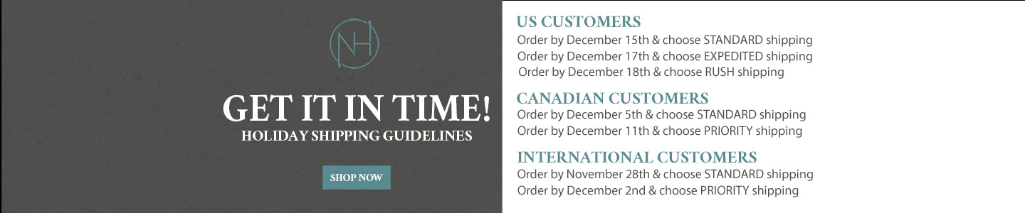 Shipping Deadlines for Niall Horan Store