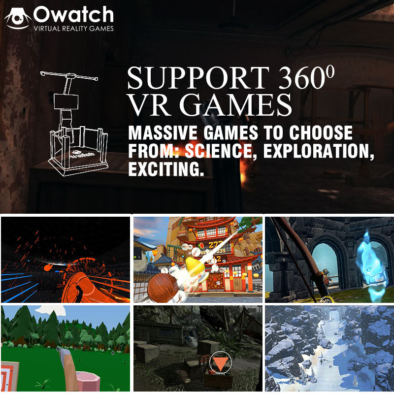 Owatch VR Space Virtual Reality Standing Simulator Games Platform with
