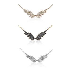 DIAMOND ANGEL WING NECKLACES
