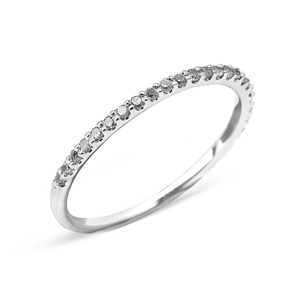 Half Diamond Stacking Ring