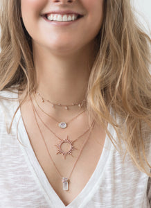 Celestial Boho Necklace with Diamonds