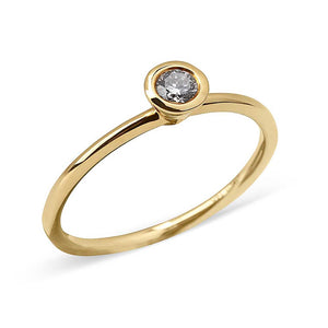 SINGLE DIAMOND BEZEL RING